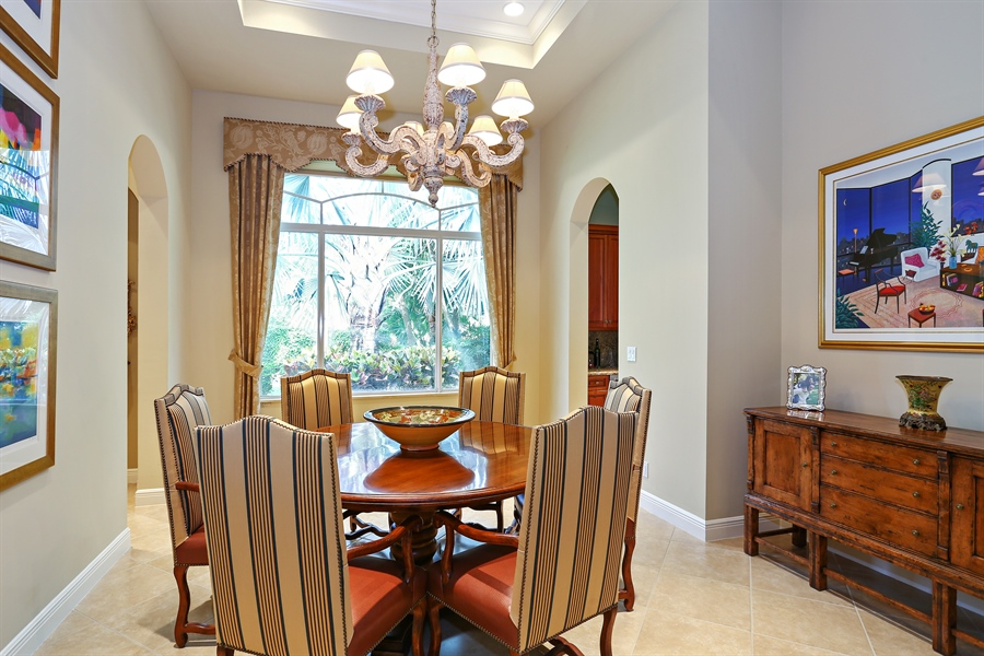 Real Estate Photography - 16313 Braeburn Ridge Trl, Delray Beach, FL, 33446 - Dining Room