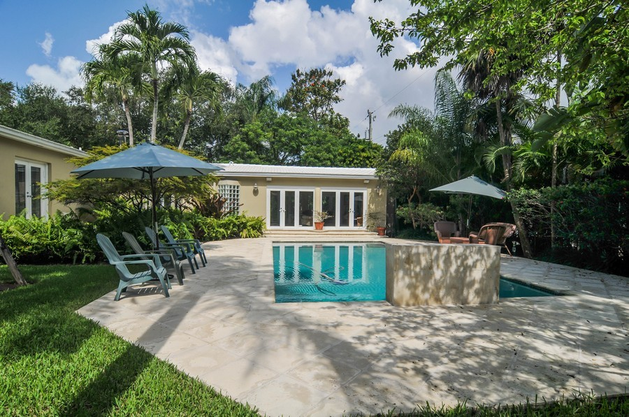 Real Estate Photography - 521 San Juan, Coral Gables, FL, 33143 - Back Yard