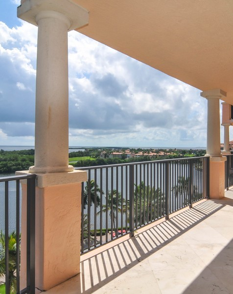 Real Estate Photography - 13627 Dearing Bay Dr, Unit 701, Coral Gables, FL, 33158 - Terrace