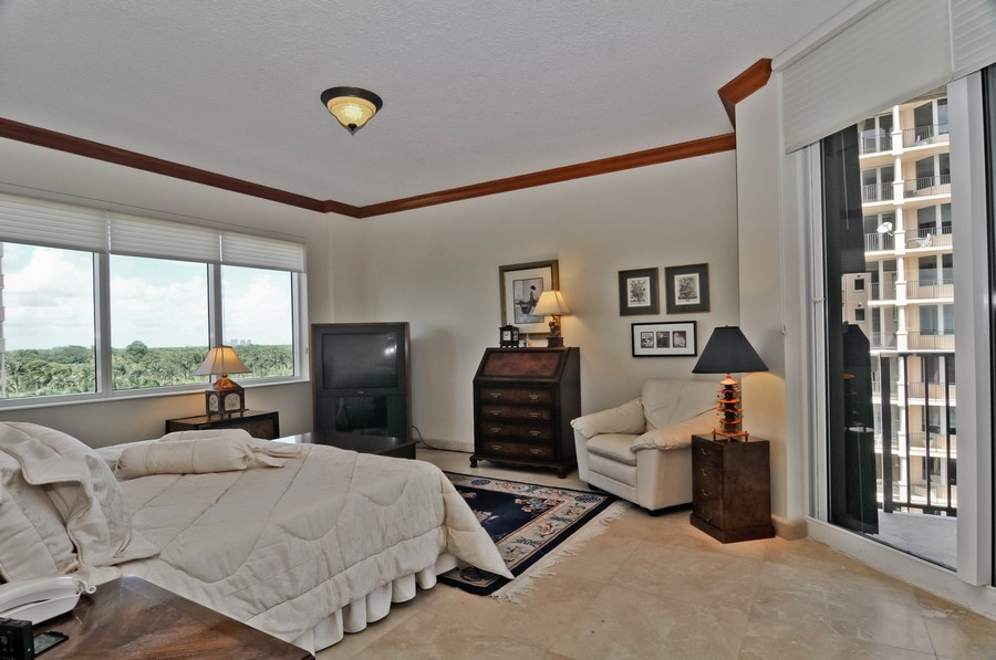 Real Estate Photography - 13627 Dearing Bay Dr, Unit 701, Coral Gables, FL, 33158 - Master Bedroom