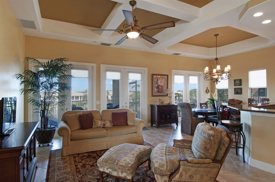 Real Estate Photography - 510 Avellino Isles Cir, Unit 2302, Naples, FL, 34119 - Living Room