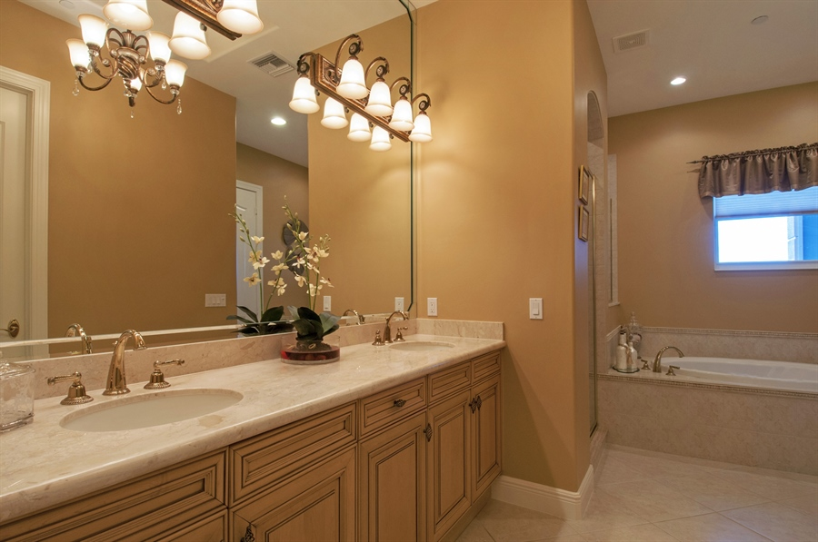 Real Estate Photography - 510 Avellino Isles Cir, Unit 2302, Naples, FL, 34119 - Master Bathroom