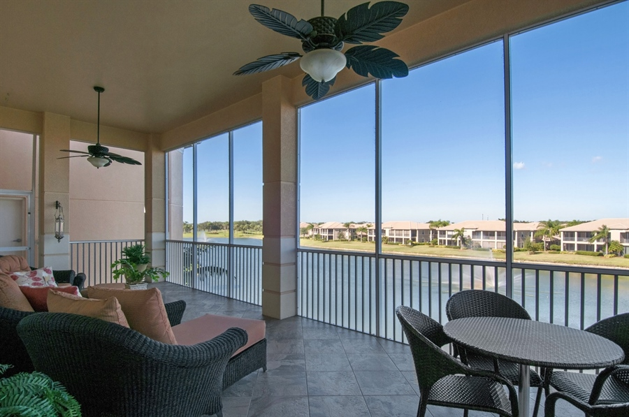 Real Estate Photography - 510 Avellino Isles Cir, Unit 2302, Naples, FL, 34119 - Lanai