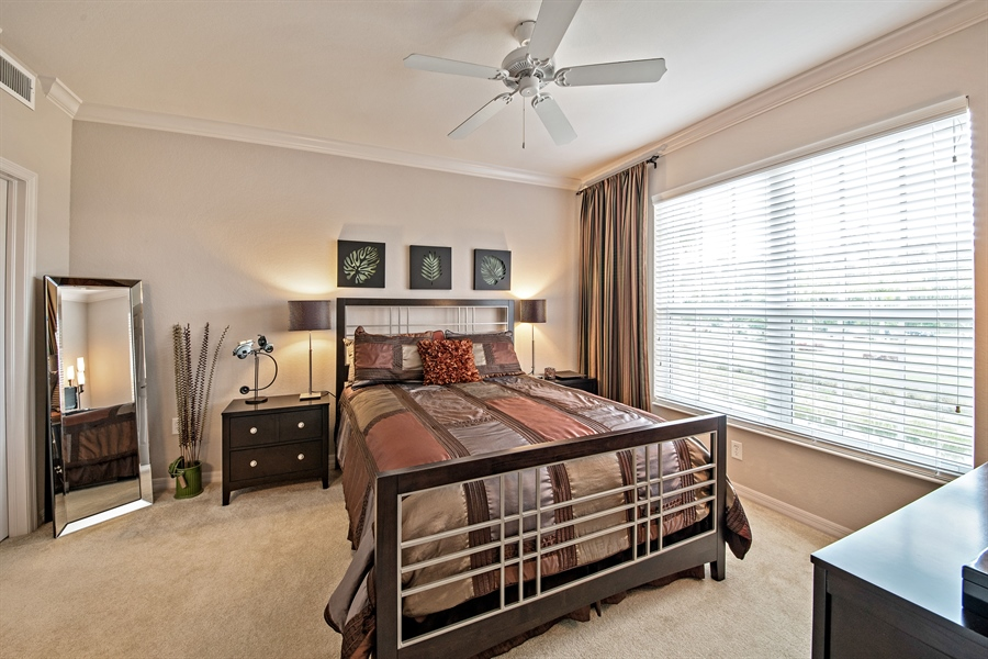 Real Estate Photography - 7065 Sierra Club Cir, Unit 206, Naples, FL, 34113 - Master Bedroom
