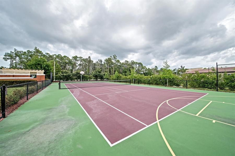 Real Estate Photography - 7065 Sierra Club Cir, Unit 206, Naples, FL, 34113 - Tennis Court