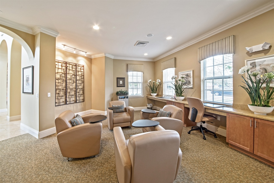 Real Estate Photography - 7065 Sierra Club Cir, Unit 206, Naples, FL, 34113 - Conference Room