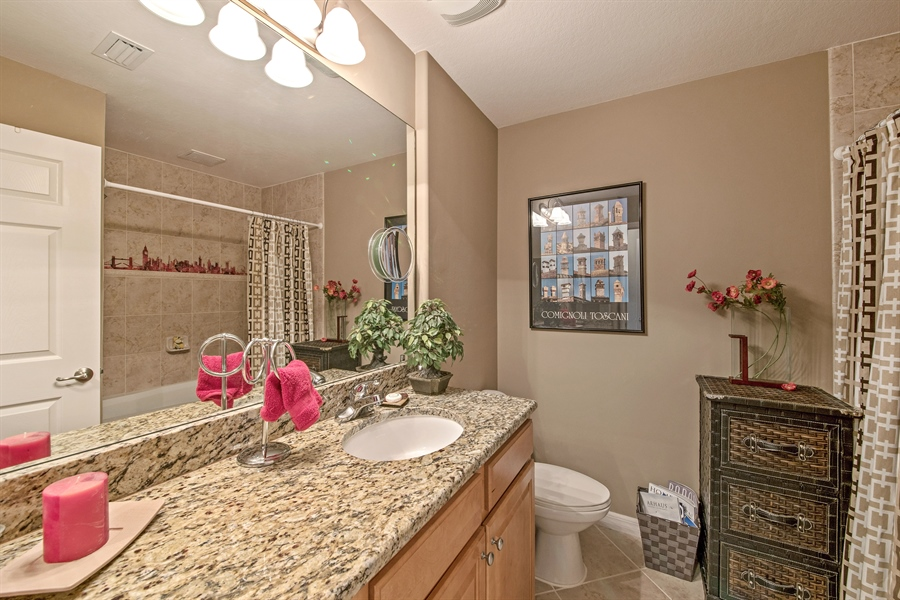Real Estate Photography - 7065 Sierra Club Cir, Unit 206, Naples, FL, 34113 - Bathroom