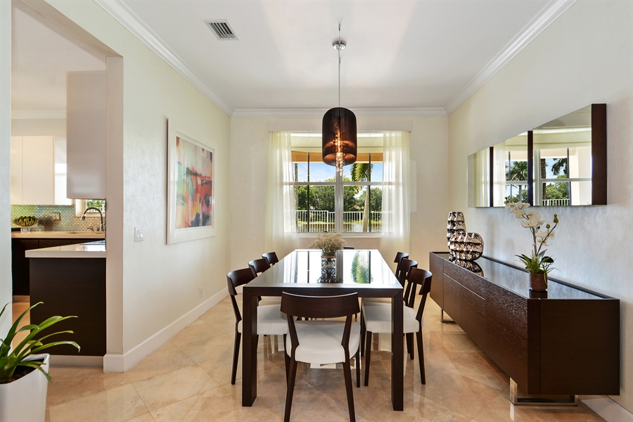 Real Estate Photography - 1289 Leeward Way, Weston, FL, 33327 - Dining Room