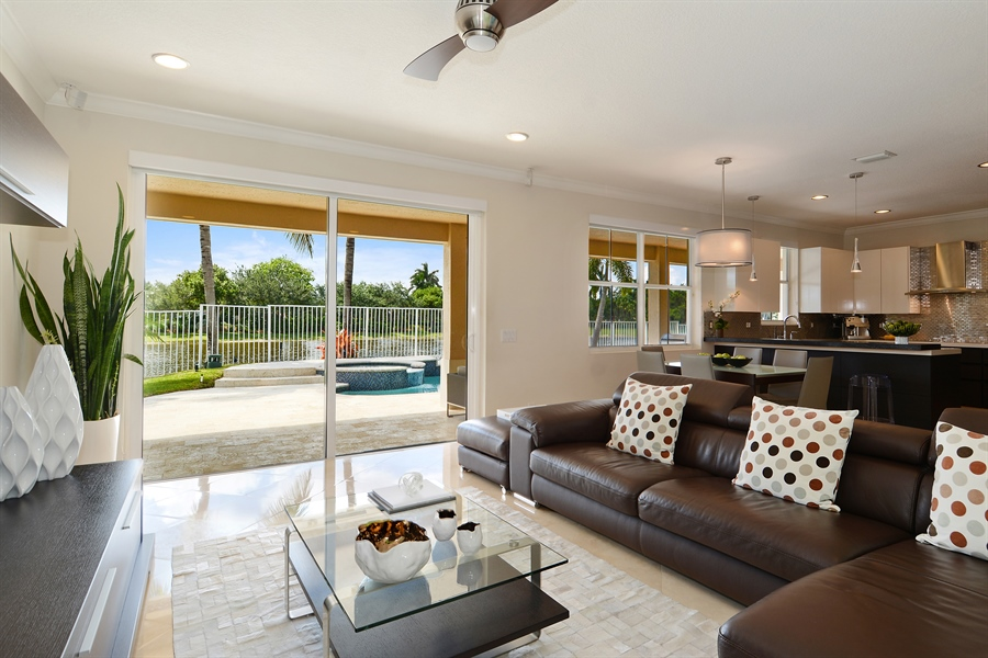 Real Estate Photography - 1289 Leeward Way, Weston, FL, 33327 - Family Room