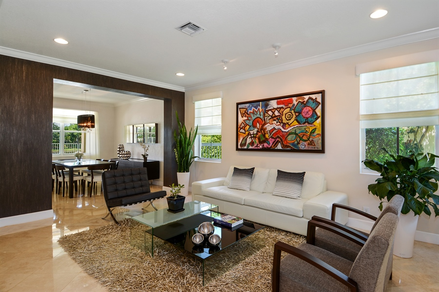 Real Estate Photography - 1289 Leeward Way, Weston, FL, 33327 - Living Room / Dining Room
