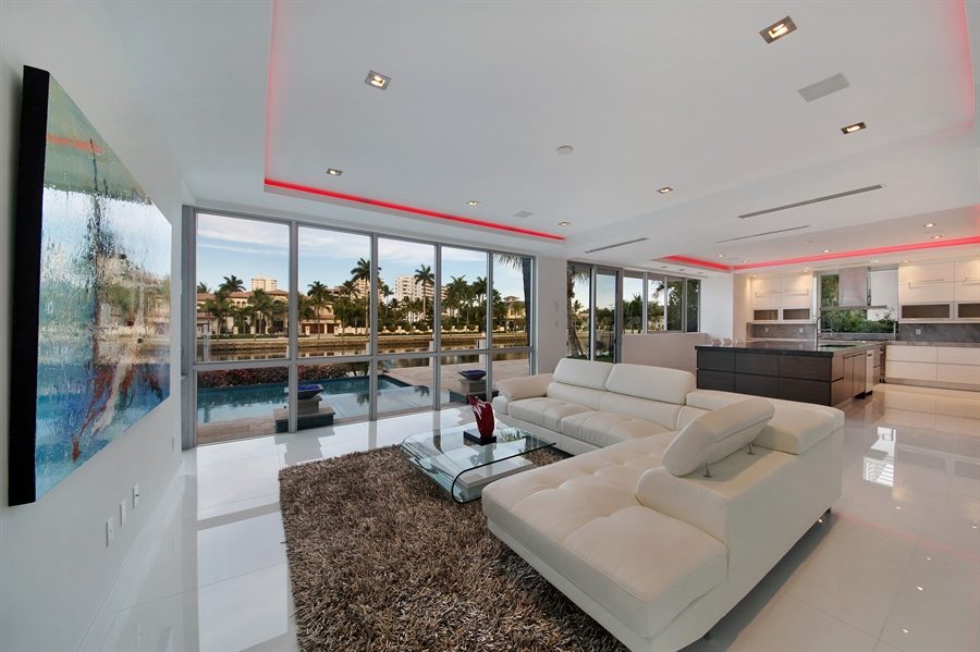 Real Estate Photography - 300 Royal Plaza Dr, Fort Lauderdale, FL, 33301 - Great Room