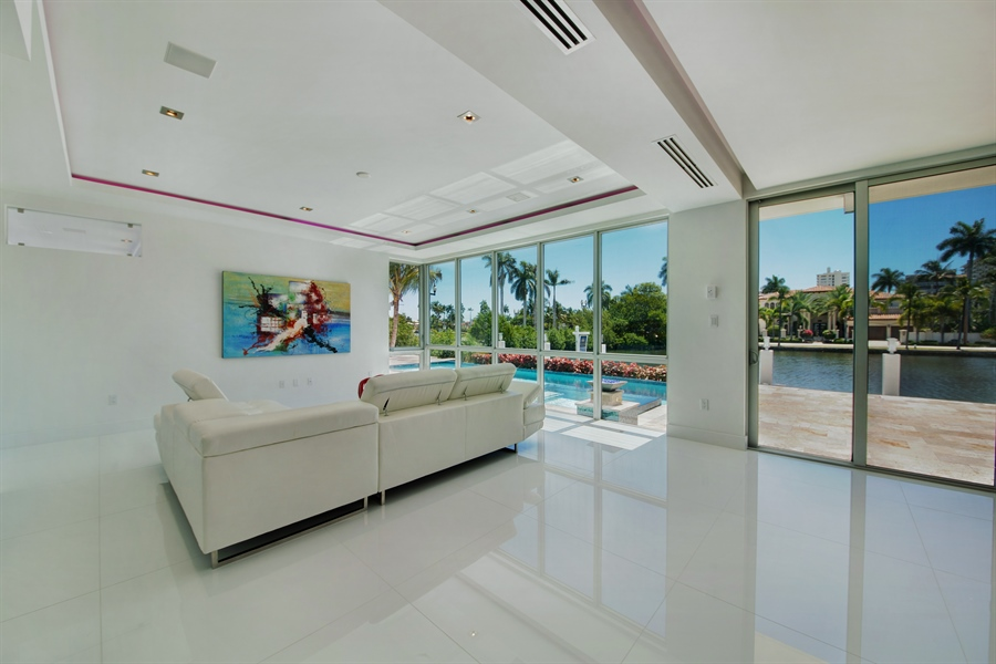 Real Estate Photography - 300 Royal Plaza Dr, Fort Lauderdale, FL, 33301 - Family Room