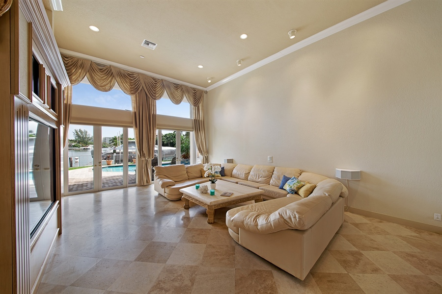 Real Estate Photography - 324 Holiday Dr, Hallandale, FL, 33009 - Living Room