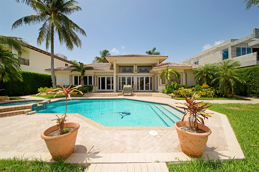 Real Estate Photography - 324 Holiday Dr, Hallandale, FL, 33009 - Back Yard
