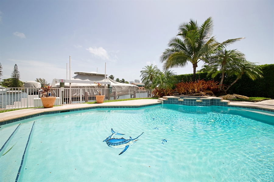 Real Estate Photography - 324 Holiday Dr, Hallandale, FL, 33009 - Pool