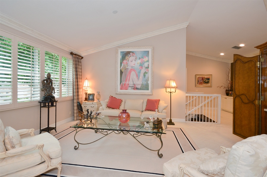 Real Estate Photography - 6190 Island Walk, Unit D, Boca Raton, FL, 33496 - Living Room