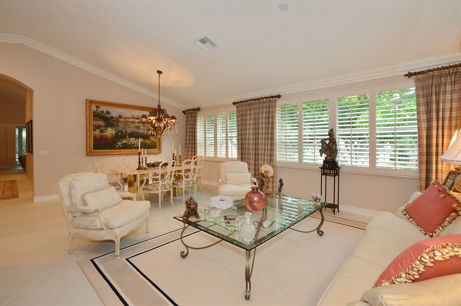 Real Estate Photography - 6190 Island Walk, Unit D, Boca Raton, FL, 33496 - Living Room / Dining Room