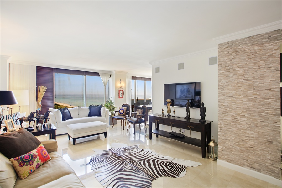 Real Estate Photography - 4779 Collins Ave  Unit 1201, Miami Beach, FL, 33140 - Living Room