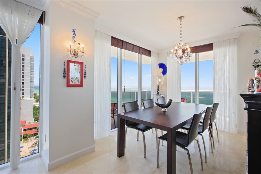 Real Estate Photography - 4779 Collins Ave  Unit 1201, Miami Beach, FL, 33140 - Dining Room