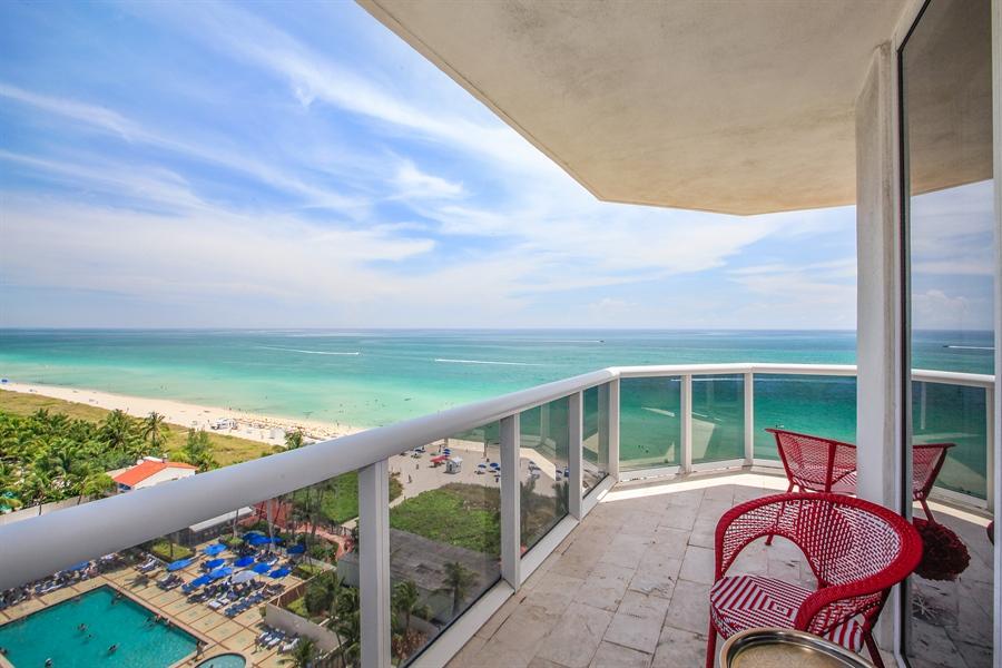 Real Estate Photography - 4779 Collins Ave  Unit 1201, Miami Beach, FL, 33140 - Balcony