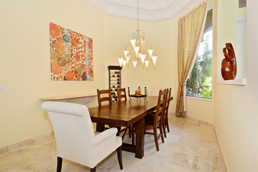 Real Estate Photography - 6565 NW 31st Ter, Boca Raton, FL, 33496 - Dining Room