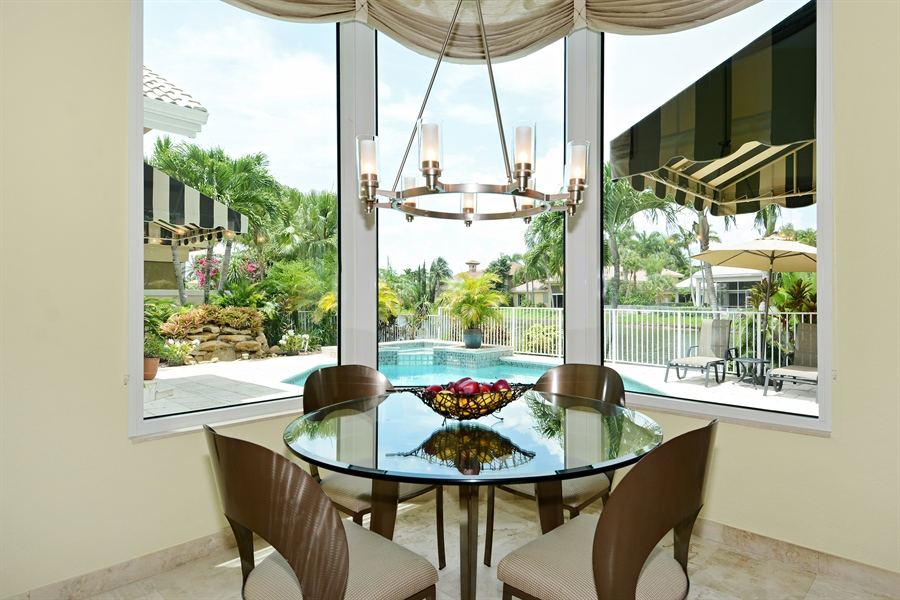 Real Estate Photography - 6565 NW 31st Ter, Boca Raton, FL, 33496 - Breakfast Room