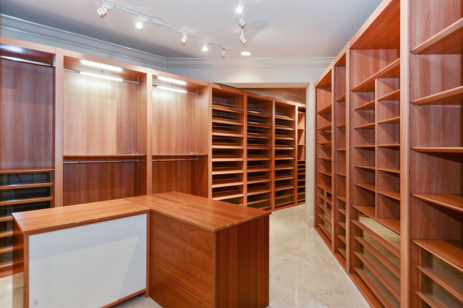 Real Estate Photography - 1645 E Lake Dr, Fort Lauderdale, FL, 33316 - Master Bedroom Closet