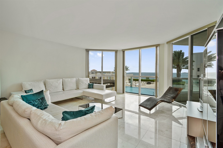 Real Estate Photography - 101 Ft Lauderdale Beach Blvd, Unit 702, Ft Lauderdale, FL, 33316 - Living Room