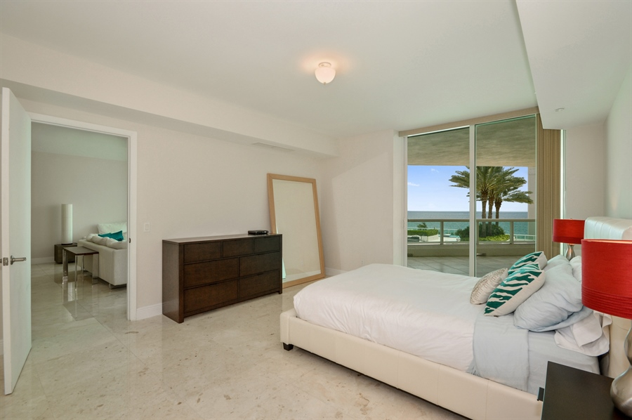 Real Estate Photography - 101 Ft Lauderdale Beach Blvd, Unit 702, Ft Lauderdale, FL, 33316 - Master Bedroom