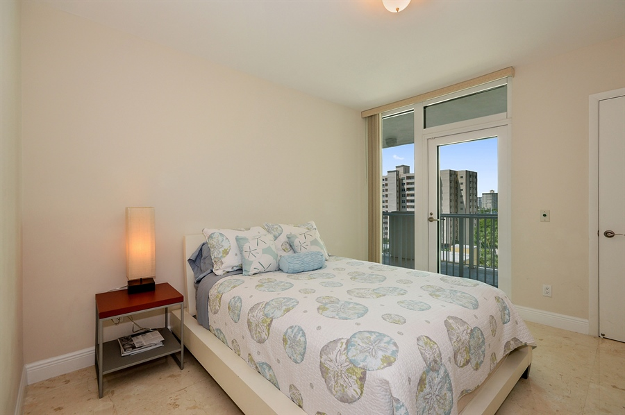 Real Estate Photography - 101 Ft Lauderdale Beach Blvd, Unit 702, Ft Lauderdale, FL, 33316 - Bedroom