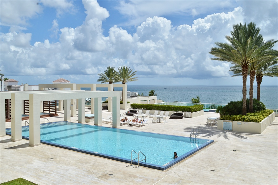 Real Estate Photography - 101 Ft Lauderdale Beach Blvd, Unit 702, Ft Lauderdale, FL, 33316 - Pool