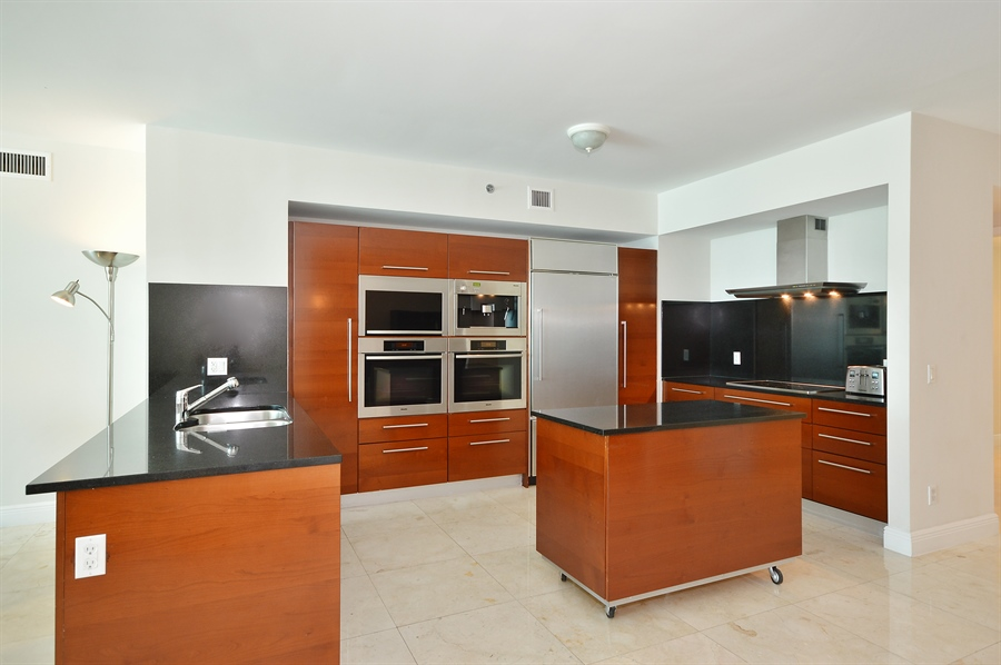 Real Estate Photography - 101 Ft Lauderdale Beach Blvd, Unit 702, Ft Lauderdale, FL, 33316 - Kitchen