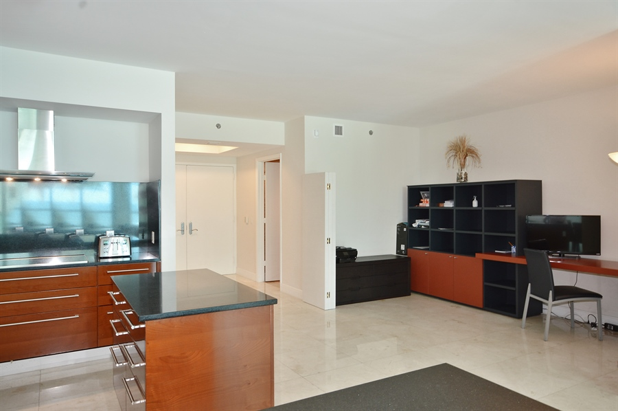 Real Estate Photography - 101 Ft Lauderdale Beach Blvd, Unit 702, Ft Lauderdale, FL, 33316 - Den