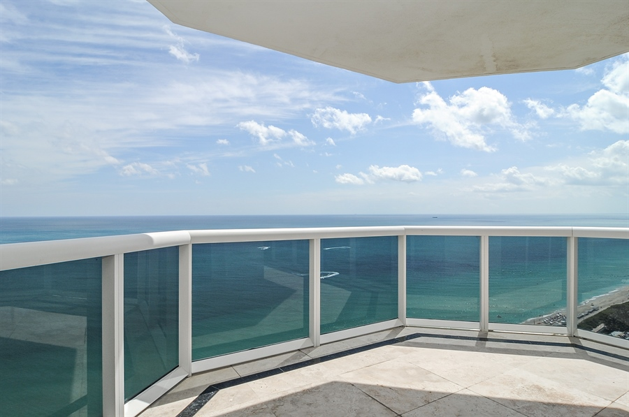 Real Estate Photography - 4775 Collins Ave, Unit 3103, Miami, FL, 33140 - Balcony