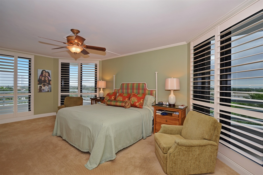 Real Estate Photography - 1400 S Ocean Blvd, N706, Boca Raton, FL, 33432 - Master Bedroom