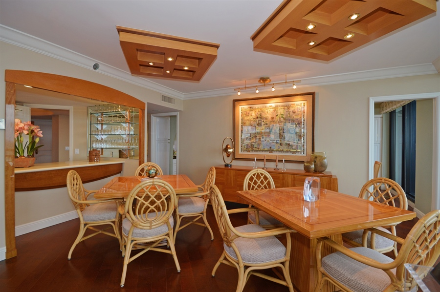Real Estate Photography - 1400 S Ocean Blvd, N706, Boca Raton, FL, 33432 - Dining Room