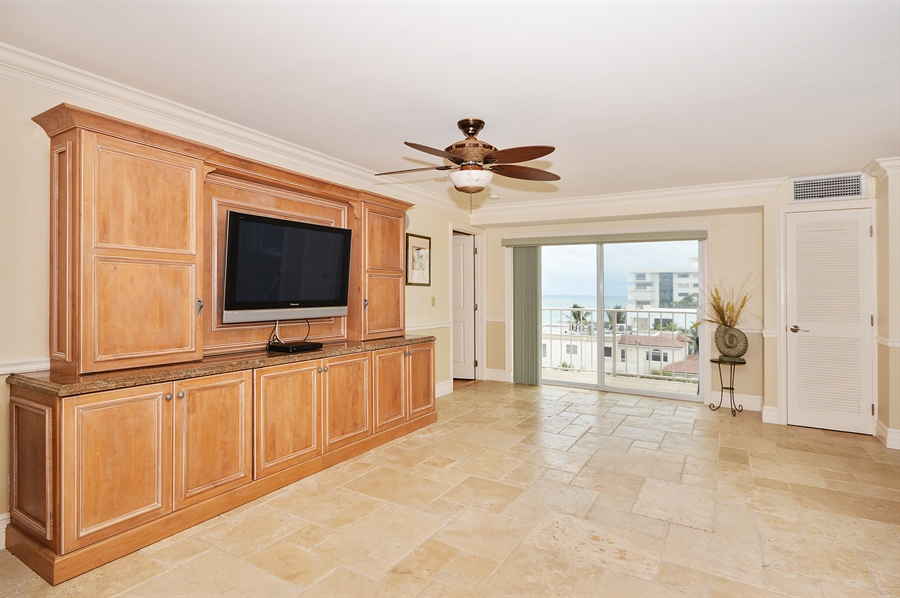 Real Estate Photography - 4511 S Ocean Blvd, Unit 601, Highland Beach, FL, 33487 - Living Room