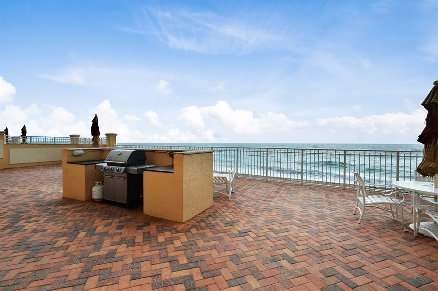 Real Estate Photography - 4511 S Ocean Blvd, Unit 601, Highland Beach, FL, 33487 - Terrace