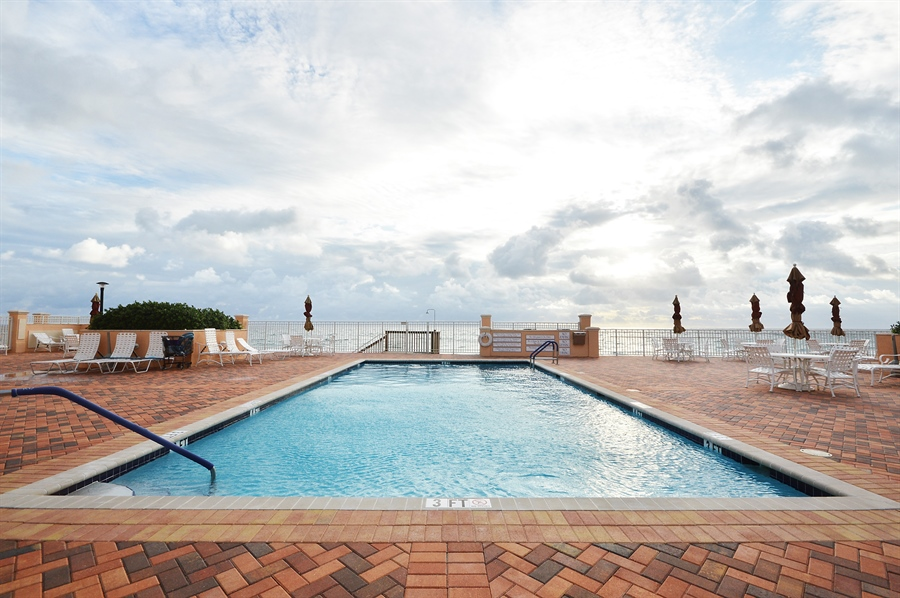 Real Estate Photography - 4511 S Ocean Blvd, Unit 601, Highland Beach, FL, 33487 - Pool