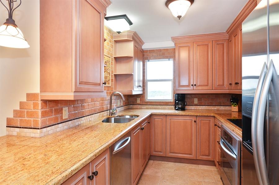 Real Estate Photography - 4511 S Ocean Blvd, Unit 601, Highland Beach, FL, 33487 - Kitchen