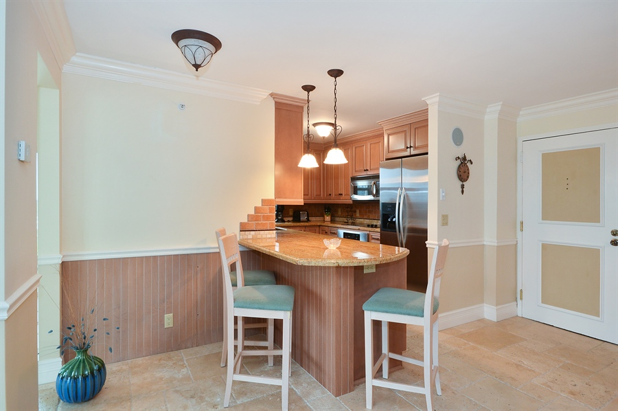 Real Estate Photography - 4511 S Ocean Blvd, Unit 601, Highland Beach, FL, 33487 - Breakfast Nook