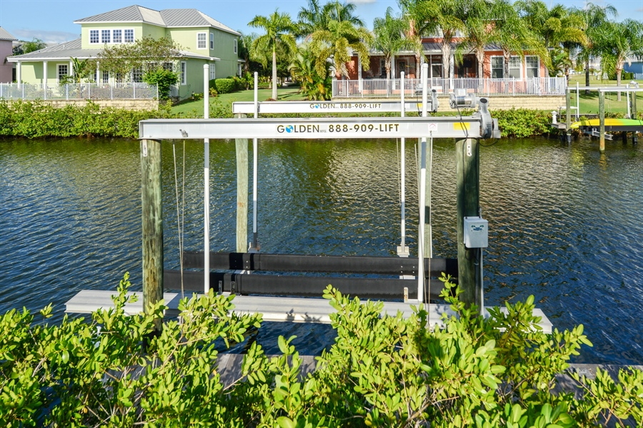 Real Estate Photography - 615 Balibay Rd, Apollo Beach, FL, 33572 - Dock/ Lift