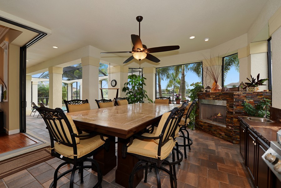 Real Estate Photography - 5417 Tybee Island Dr, Apollo Beach, FL, 33572 - Covered Lanai/Outdoor Kitchen