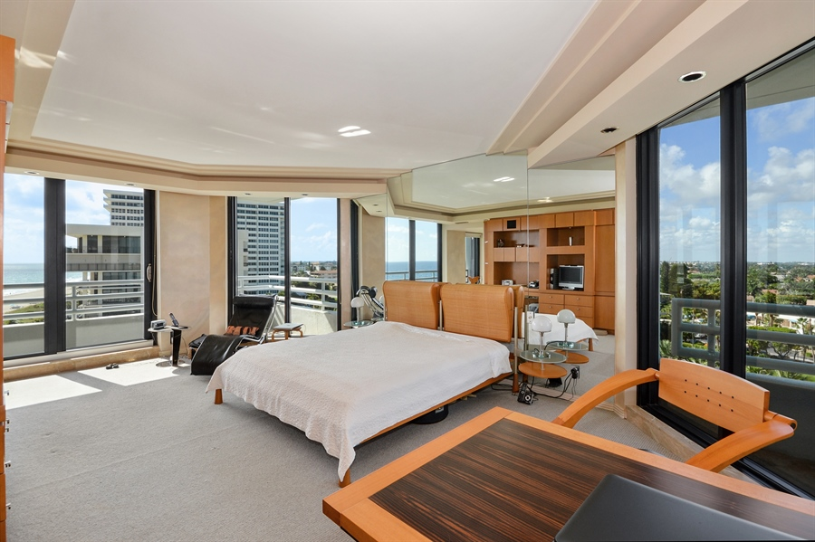 Real Estate Photography - 1500 S Ocean Blvd, Unit S706, Boca Raton, FL, 33432 - Master Bedroom