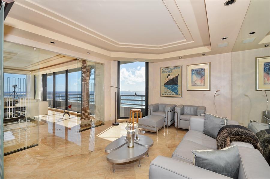 Real Estate Photography - 1500 S Ocean Blvd, Unit S706, Boca Raton, FL, 33432 - Den