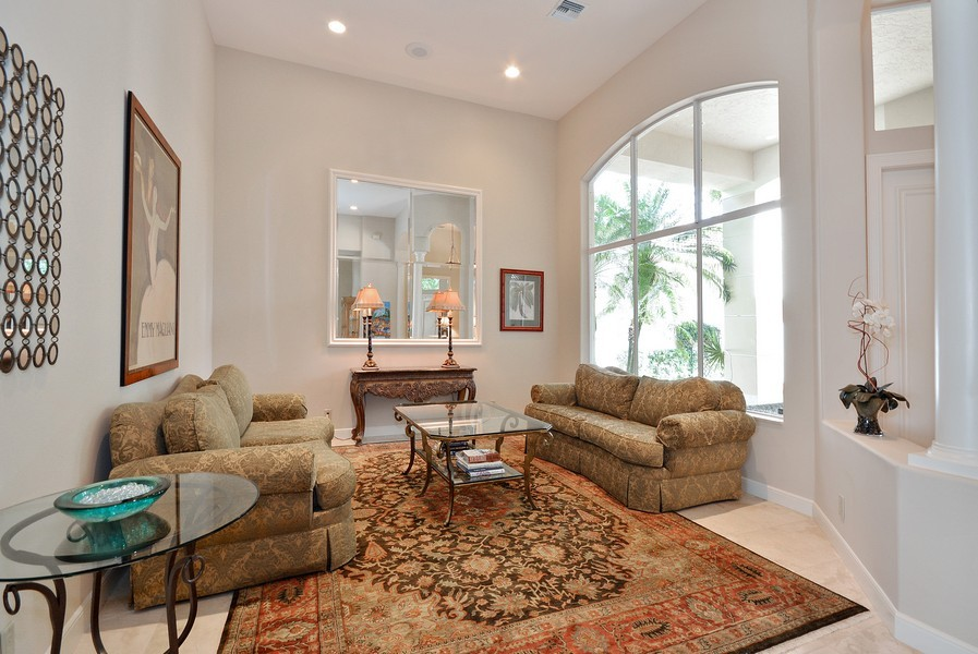 Real Estate Photography - 7061 Mallorca Crescent, Boca Raton, FL, 33433 - Living Room