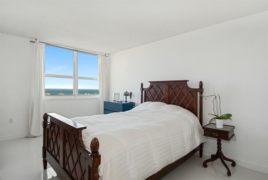 Real Estate Photography - 650 West Ave, Apt 2812, Miami Beach, FL, 33139 - Master Bedroom