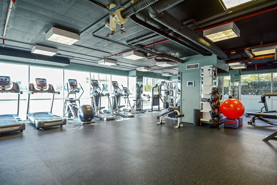 Real Estate Photography - 650 West Ave, Apt 2812, Miami Beach, FL, 33139 - Fitness Center