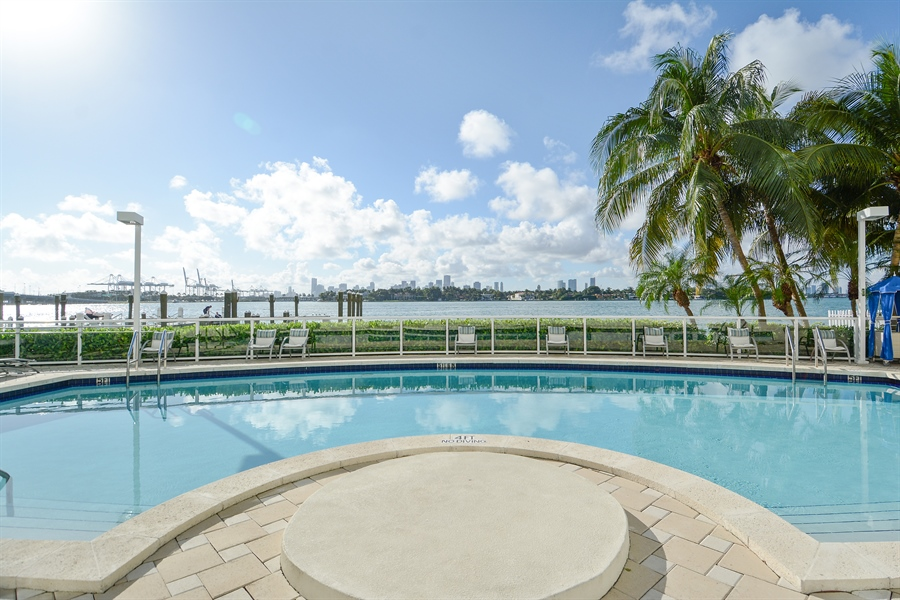 Real Estate Photography - 650 West Ave, Apt 2812, Miami Beach, FL, 33139 - Lower Pool