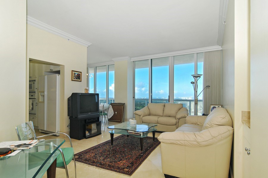 Real Estate Photography - 4779 Collins Ave, Unit 4207, Miami Beach, FL, 33140 - Living Room